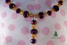 Purple and Citrine Crystal Necklace  In a by ForestofJewels, $38.00