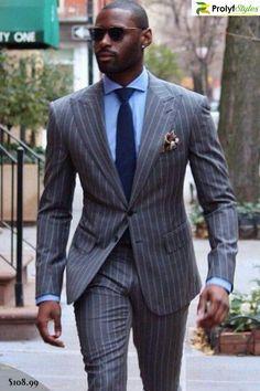 Men's suit, Men's dress suit, men pinstripe suit, men jacket suit, stripe suit #menswear