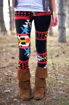 Adorable navajo aztec tribal print leggings fashion