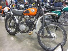 1968 Kawasaki Greenstreak 238 on display at the 2013 Idaho Vintage Motorcycle Show -- Caldwell, Id Motocross Bikes, Vintage Motocross, Racing Motorcycles, Vintage Motorcycles, Vintage Racing, Kawasaki Dirt Bikes, Dirt Biking, Moto Bike, Street Bikes