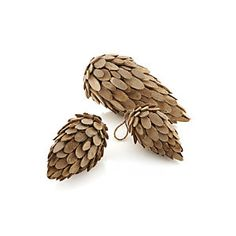 Wood Pinecones TO MAKE OUT OF FELT