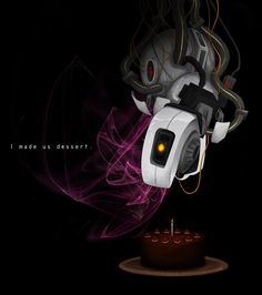 Portal Valentine - by ScriptKittie Portal Wheatley, Combustible Lemons, Companion Cube, The Ventures, Aperture Science, Portal 2, You Monster, Video Games Funny, Fictional World