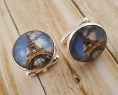 Dreaming of Paris....get these cufflinks from Cuffed Up Gallery at Etsy
