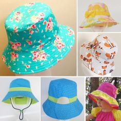 Ultimate Bucket Hat Pattern by Flosstyle. std, wide, ruffle, pony tail or no brim. from NB to lge adult
