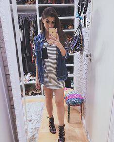"""aafebdd683d0f Nah Cardoso on Instagram  """"Niiiiight! ✌🏻 Oh quem apareceu no espelho do  closet depois de um tempão! 🙋🏻 Tô numa fase de usar roupas"""