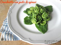 Orecchiette con pesto di spinaci