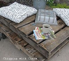 """Our First Pallet Project...rustic Table or Comfy """"perch""""??"""