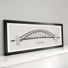Sydney Harbour Bridge Panoramic Print, Australia Poster, Landmark Art, Cars Design, Black And White, Large Wall Art, Contemporary Art by FoxAndVelvet on Etsy https://www.etsy.com/listing/288508261/sydney-harbour-bridge-panoramic-print