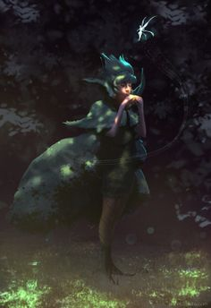 Saria, Sage of the Forest by James Zapata