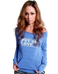 Put On Love Wideneck Sweater - Christian Womens Sweatshirts for $44.99 | notw.com