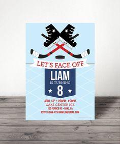 Ice Hockey Birthday Invitation - Sports Birthday - Hockey Party