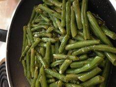pan fried green beans with lemon, garlic and mint .     food.com