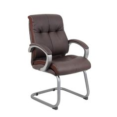 Zipcode Design Miracle Executive Guest Chair Upholstery: Brown