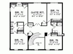Georgian House Plan with 3938 Square Feet and 5 Bedrooms(s) from Dream Home Source   House Plan Code DHSW40260