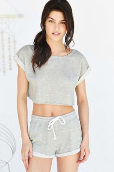 Out From Under Terry Roll Cuff Top - Urban Outfitters