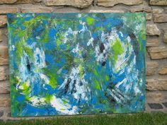 """Acrylmalerei - """"wütender Berg"""" - ein Designerstück von n8kunst-z-wergk bei DaWanda"""
