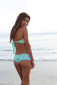 Lolli - Bow Bottom Sky/Mint - $67