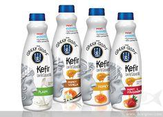 The Greek Gods Kefir Low Fat Cultured Milk on Packaging of the World - Creative Package Design Gallery Yogurt Packaging, Dairy Packaging, Cool Packaging, Beverage Packaging, Bottle Packaging, Product Packaging, Packaging World, Glass Milk Bottles, Greek Gods
