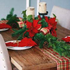 "My Christmas tablescape.You can catch all of my Christmas decor in a new ""Quick Read"" post on A Daydream Love-link in bio! #tablescape #christmas #holidayseason #decor #adlhome #goodmorning #red"