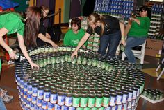 Teams of local architects, engineers and students spent weeks developing and designing structures made from thousands of canned goods for the annual CANstruction competition. The results were amazing, and followed this year's theme of