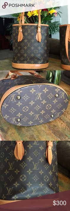 Louis Vuitton Vintage Bucket Preowned LV vintage Bucket Purse. Outside is in great condition. Inside is sticky an peeling. Date Code VI0010 Louis Vuitton Bags Shoulder Bags