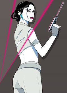 """The Senator"" by Patrick Nagel-influenced artist Craig Drake. Drake specializes in movie-inspired artwork and has done several Star Wars-related pieces. Star Wars Art, Comic Art, Character Illustration, Sci Fi Art, Fashion Illustration, Female Art, Art, Pop Art, Nagel Art"