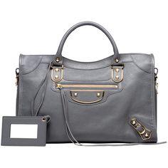 Balenciaga Classic Metallic Edge City featuring polyvore, women's fashion, bags, handbags, balenciaga purse, handbags shoulder bags, metallic shoulder bag, balenciaga shoulder bag and balenciaga