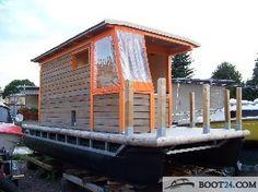 Catamaran - Pontoon Boat / Pontonboot Floß Katamaran