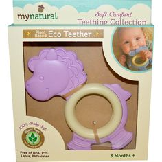 Greenpoint Brands, My Natural, Plant Based Eco Teether, Purple Pony, 3 Months+, 1 Teether - iHerb.com