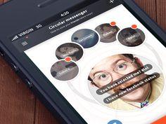 Circular Messenger Mobile App UI Design