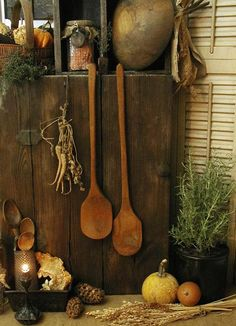 fanatics country attic - photo of old wood spoons