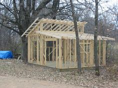 Roof: Interesting Shed Roof Framing With Best Wooden Material ...