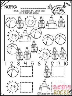 Summer Printables are perfect for children leaving preschool and heading to kindergarten. Summer is a fun theme that students would enjoy during the late spring,… Beginning Of Kindergarten, Kindergarten Freebies, Kindergarten Rocks, Kindergarten Lessons, Kindergarten Classroom, Classroom Ideas, Summer Preschool Activities, Math Activities, Preschool Education