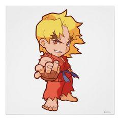 Pocket Fighter Ken 2 Print - Street Fighter Video Game - $20