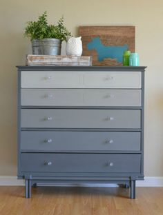k- dresser idea. I love this dresser L - love this! The colors are fantastic :-) Shabby Chic Dresser, Redo Furniture, Painted Furniture, Bedroom Themes, Home Furniture, Refinishing Furniture, Star Wars Themed Bedroom, Girls Bedroom Grey, Furniture Makeover