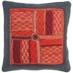 Quilted Indian Banjara Bag Face Pillow.