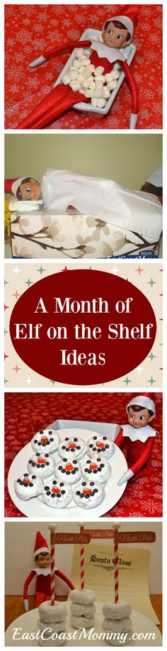 The only Elf on the Shelf ideas I am going to need this year... all in one place. Easy peasy!