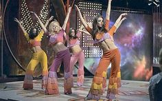 Pans People on Top of the Pops, 1970.  My husband made me laugh when he told me how his mother used to switch them off when they appeared on TV because they were too 'raunchy.'