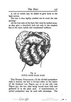 The Divided Pompadour, 1911. Beauty culture; a practical handbook on the care of the person, by Woodbury, William A.
