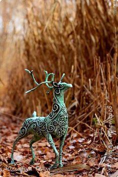Поделка изделие Новый год Папье-маше Лесной Бог всё тот же олень Бумага газетная Бумага журнальная фото 1