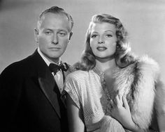 "George Macready and Rita Hayworth - from the movie ""Gilda"" - 1946 - one of Rita's best films ever made!!!"