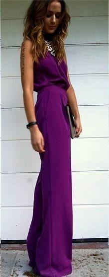 Purple jumpsuit <3