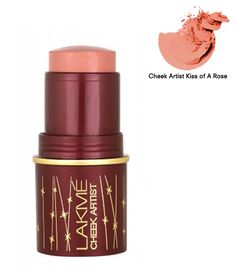 Lakme Cheek Artist Kiss of a Rose is a multipurpose stick that adds on beauty and charm to your persona by giving you pinkish cheeks. It increases your appearance by highlighting your cheeks to make you look more beautiful than ever. It comes in feminine and funny colors that easily blend with your skin tone to give you dreamy rose-kissed princess like cheeks.
