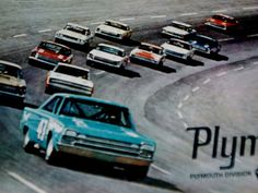 1966. Richard Petty. 1966 Plymouth Satellite. Daytona 500 Winners, Plymouth Satellite, Richard Petty, Vintage Race Car, Nascar Racing, Mopar, Race Cars, Track, King