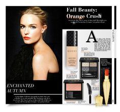 """""""Fall Beauty: Orange Crush"""" by thewondersoffashion ❤ liked on Polyvore featuring beauty, Gucci, Christian Louboutin, LORAC, christianlouboutin, gucci, CelebrityStyle, katebosworth and orangecrush"""