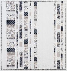 Nice B & W Modern Quilt -  Hawthorne Threads Blog