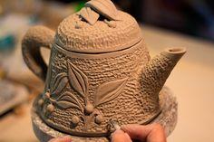 new teapot in progress by Wendy Goldsmith.