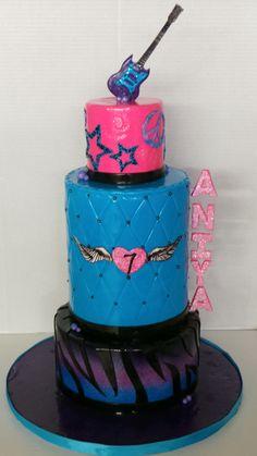 Let's Rock! Celebration Cakes, Birthday Celebration, Birthday Cakes, Rock, Desserts, Shower Cakes, Tailgate Desserts, Deserts, Skirt