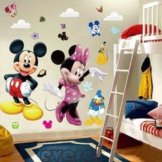 Cartoon Mickey and Minnie Mouse Wall Stickers Kids Baby Nursery bedroom Decals home Decor the little prince kids gift * Wall Stickers Cartoon, Vinyl Wall Stickers, Wall Decal Sticker, Vinyl Art, Decoration Stickers, Wall Stickers Home Decor, Room Decorations, Birthday Decorations, Mickey Mouse Room