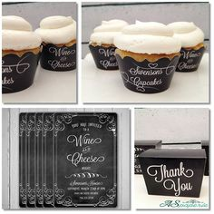 Chalk Personalized Cupcake Wrappers by ASPaperie on Etsy, $12.00